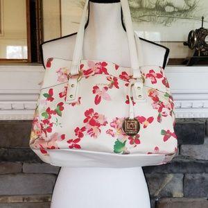 Liz Claiborne floral purse bag multi pockets
